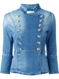 джинсовая куртка в стиле милитари Pierre Balmain