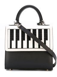 сумка-тоут с прнитом клавиш  Les Petits Joueurs