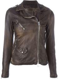 приталенная байкерская куртка Giorgio Brato