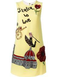 платье-шифт с вышивкой 'Italy' Dolce & Gabbana