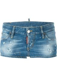 distressed mini denim shorts  Dsquared2