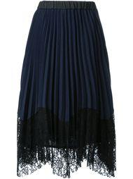 плиссированная юбка с кружевной панелью Loveless