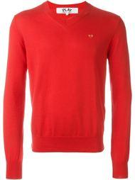 heart embroidered sweatshirt Comme Des Garçons Play