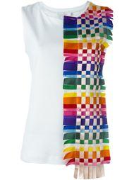 топ с плетеной радужной панелью Roberto Capucci
