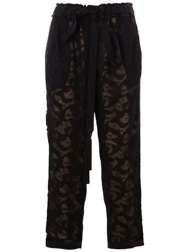 кружевные брюки Oscar de la Renta