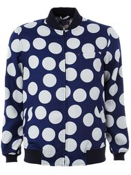 polka dot print bomber jacket Blue Blue Japan