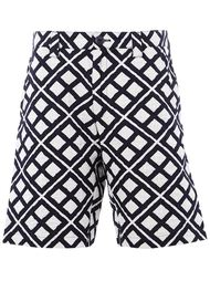 шорты с геометрическим узором  Blue Blue Japan