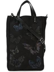 сумка-тоут с вышивкой бабочек Valentino Garavani