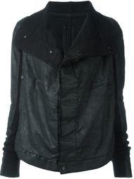 джинсовая куртка с высоким воротом Rick Owens DRKSHDW