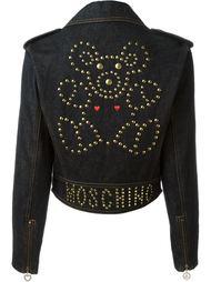 джинсовая байкерская куртка Moschino Vintage