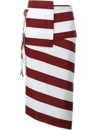 асимметричная юбка-карандаш в полоску Nº21
