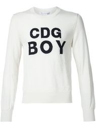 джемпер с логотипом интарсией Comme Des Garçons Shirt