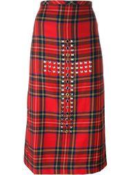 декорированная юбка в клетку с запахом Comme Des Garçons Vintage