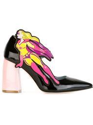 Черные туфли Мэри Джейн 'Superhero'  Chiara Ferragni