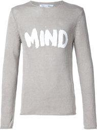 джемпер с принтом 'Mind' Comme Des Garçons Shirt