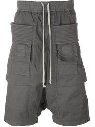 шорты карго с ребристыми панелями Rick Owens DRKSHDW