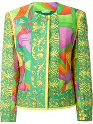 пиджак с комбинированным принтом Versace Vintage
