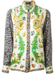 рубашка с комбинированным принтом Versace Vintage