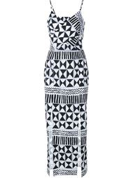 Rebecca Geometric Print Cut-Out Dress Tata Naka