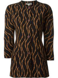 пиджак с принтом колючей проволоки Stephen Sprouse Vintage