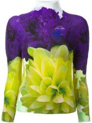 floral print funnel neck top Issey Miyake Cauliflower
