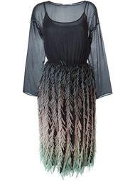 платье с бахромой Marco De Vincenzo