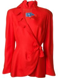 пиджак с запахом и фестонами Thierry Mugler Vintage