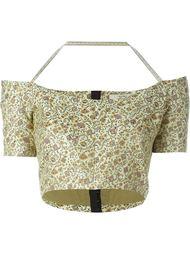 укороченная рубашка с цветочным принтом  Etro