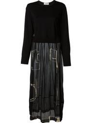 прозрачное платье с длинными рукавами Comme Des Garçons Vintage