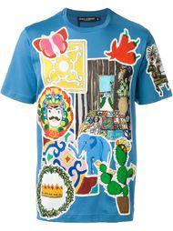 футболка с заплатками 'Sicily' Dolce & Gabbana