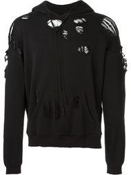 destroyed hoodie Unravel