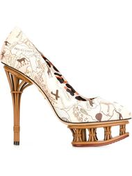 Разноцветные туфли 'Dolly'  Charlotte Olympia