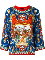 топ с принтом 'Carretto Siciliano' Dolce & Gabbana