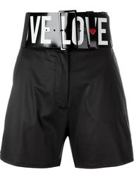 шорты с завышенной талией и поясом Love Moschino