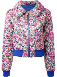 стеганая куртка с цветочным принтом  DressCamp