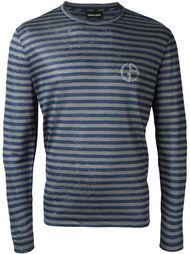 полосатая футболка с длинными рукавами Giorgio Armani