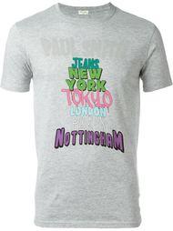 футболка с принтом названий городов Paul Smith Jeans