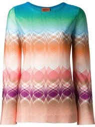 patterned knit longsleeved top Missoni