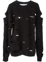 свитер с вырезами  Filles A Papa