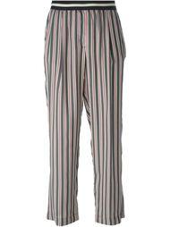 полосатые брюки с завышенной талией Mauro Grifoni