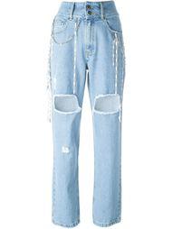 джинсы с рваными деталями Filles A Papa