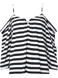 striped off the shoulder blouse Nicole Miller