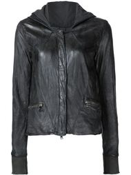 worn effect hooded jacket Giorgio Brato