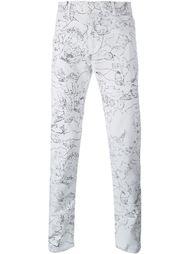 джинсы с принтом кактусов Kenzo