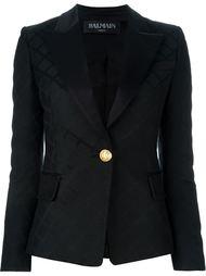 жаккардовый приталенный пиджак Balmain