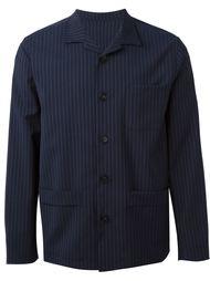 pinstriped shirt jacket Paolo Pecora