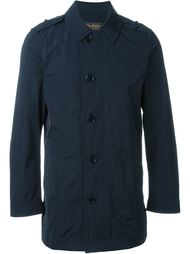button down single breasted coat Woolrich