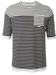 multi stripe pocket detail T-shirt Wooster + Lardini