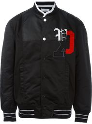 logo print bomber jacket Facetasm
