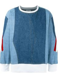 denim sweatshirt Facetasm